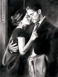 The Train Station V by Fabian Perez - Limited Edition on Paper sized 16x12 inches. Available from Whitewall Galleries